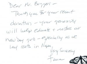 Handwritten Thank You note